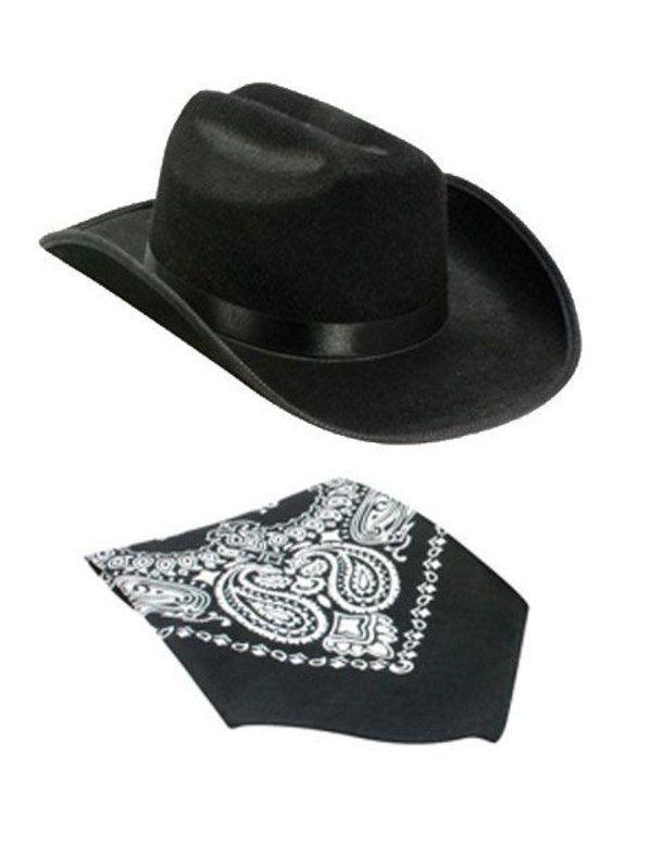 Halloween Kids Cowboy Hat with Bandana