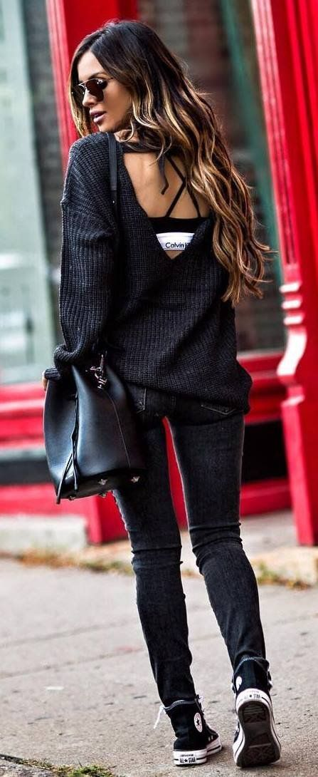 ootd sweater   bag   skinny jeans   converse