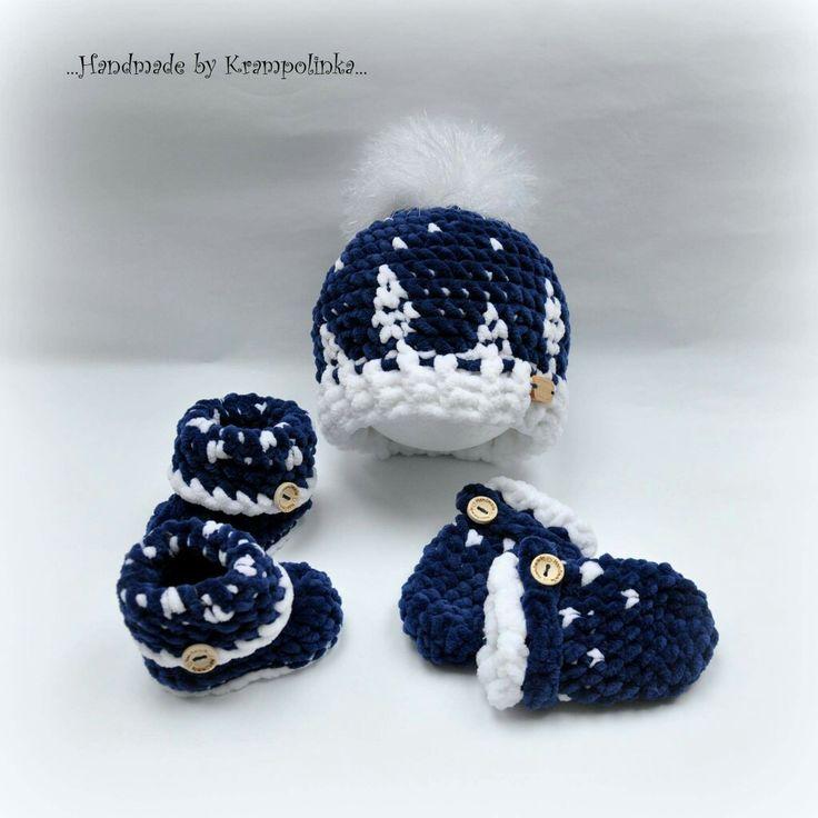 Crochet baby newborn set Nordic pattern