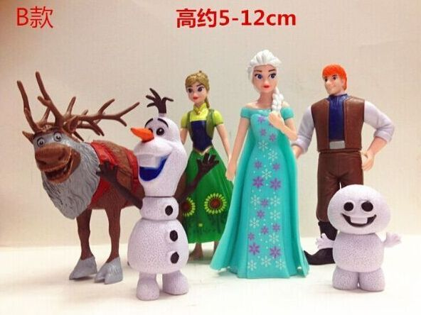 20sets Anna & Elsa figures,  Anna Elsa Hans Kristoff Sven Olaf toys 6pcs/set, toys for kids #Affiliate