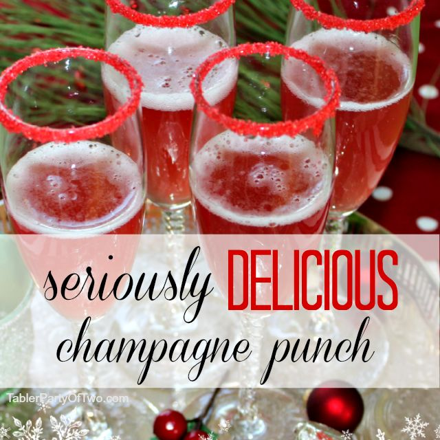 Seriously Delicious Champagne Punch easy to make, beautiful and a total crowd pleaser!