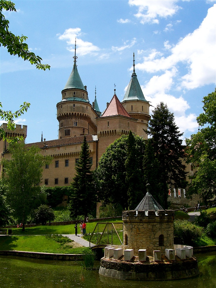 Bojnice Castle is a medieval castle in Bojnice, Slovakia. It is a Romantic castle with some original Gothic and Renaissance elements built in the 12th century.
