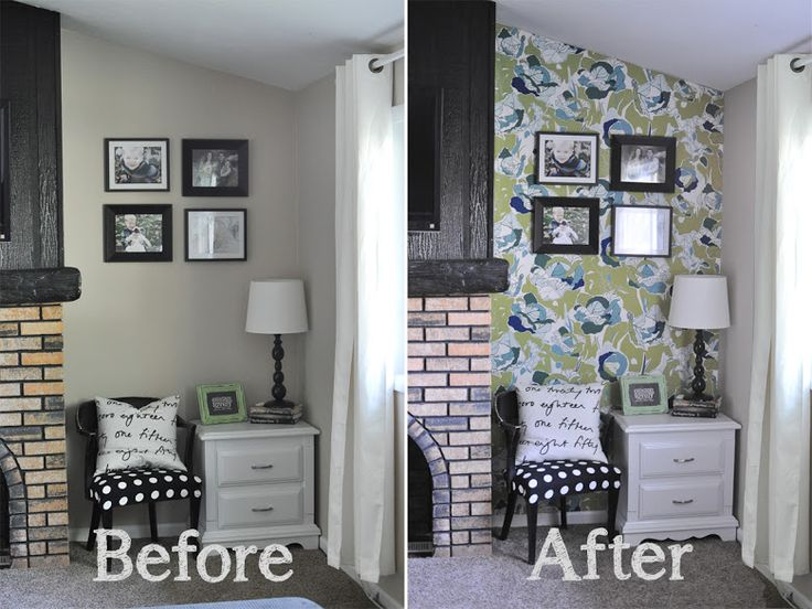 temporary renters wall decoration - fabric on the wall
