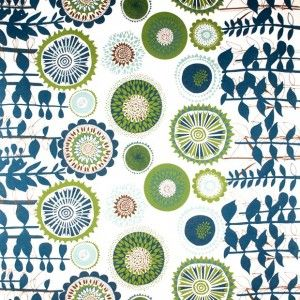 Spira Solros Blue and Green Fabric.