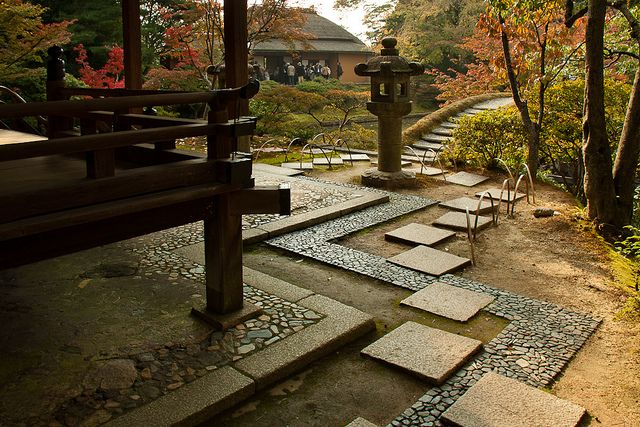 Walkway steps design at the Katsura Imperial Villa.  Photograph by Urszula Kijek, 2010.