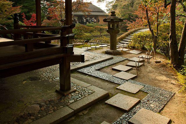 Walkway steps design at the Katsura Imperial Villa.  Photograph by Urszula Kijek, 2010.
