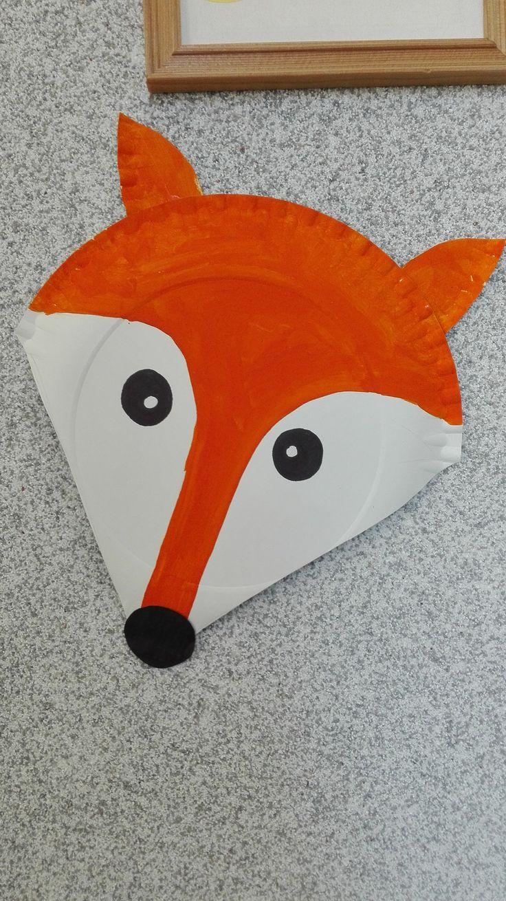 Maska lisa z papierowego talerza
