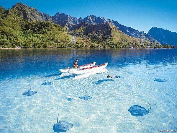The shallow waters of Antalya, Turkey