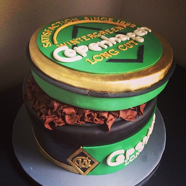 Grooms Cake - A can of Copenhagen Dipping Tobacco