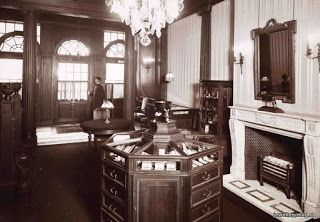 Photograph (below) of the interior of Fabergé's store c1842. winterpalaceresearch.blogspot.ca
