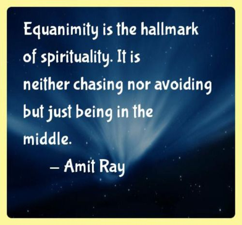 "Equanimity: The quality of being calm, composed & even-tempered.   The word is derived from Latin - comes from the combination of ""aequus"" and ""animus"" (""soul"" or ""mind"") in the Latin phrase aequo animo, which means ""with even mind."""