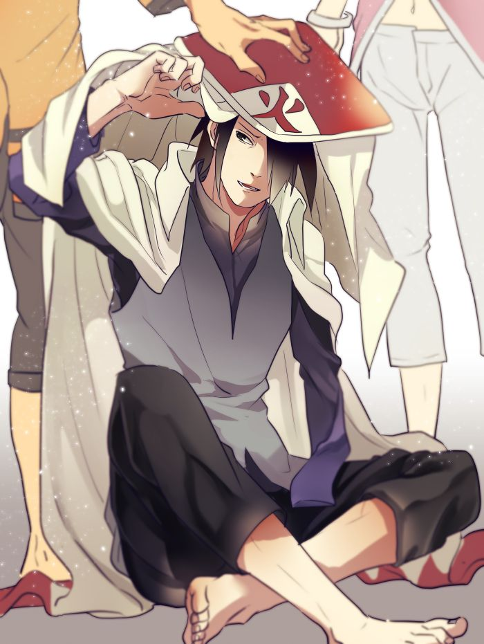 It's so cuuuute! Naruto putting his Hokage garb on his best friend X3 Yes they are best friends, they could have been more, but they are are best friends for life no matter what anyone tell me