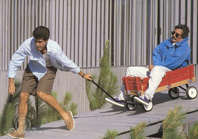 Weekend at Bernies (1989)   Still of Jonathan Silverman and Terry Kiser in Weekend at Bernies