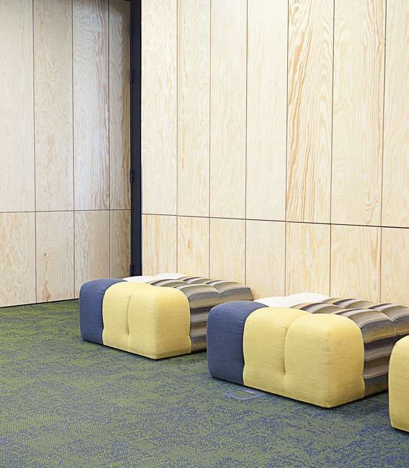 Bolon flooring in the office of Pixel 1 in Poznan, Poland