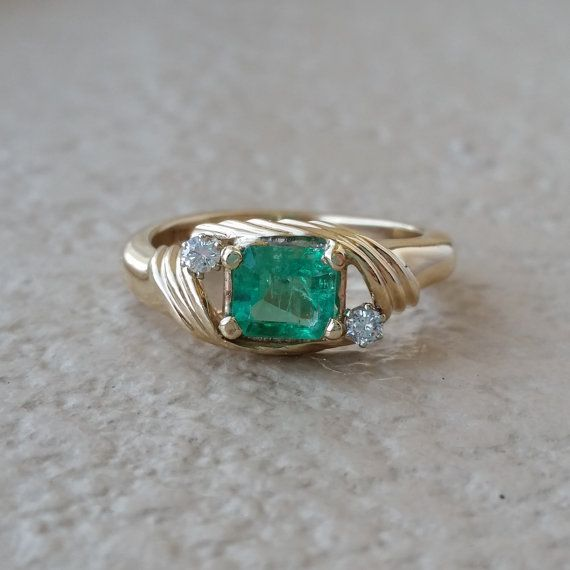 Vintage Estate Muzo Colombian Emerald and by CypressCreekVintage
