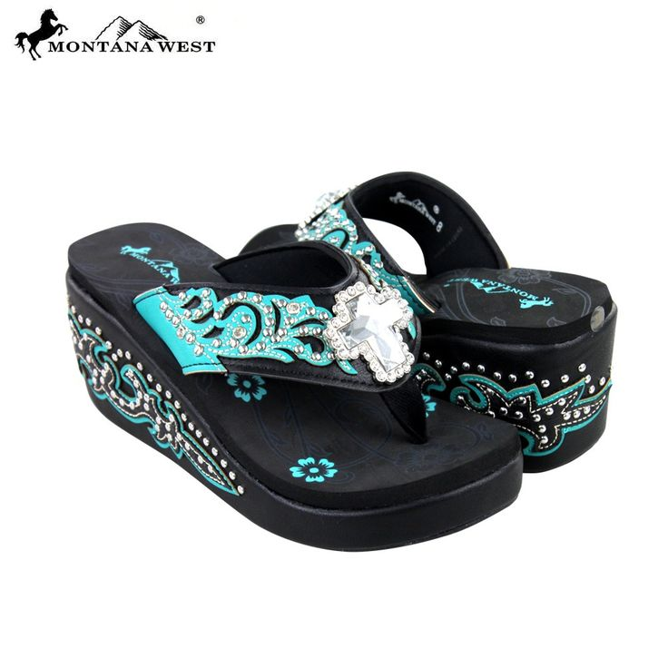 SEH05-S008 Montana West Boot Scroll Platform Flip-Flops Collection BY CASE - Flip Flops - Shoes