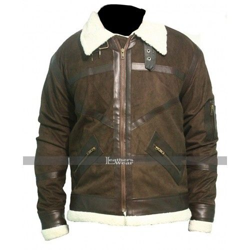 Power 50 Cent Brown Fur Leather Jacket