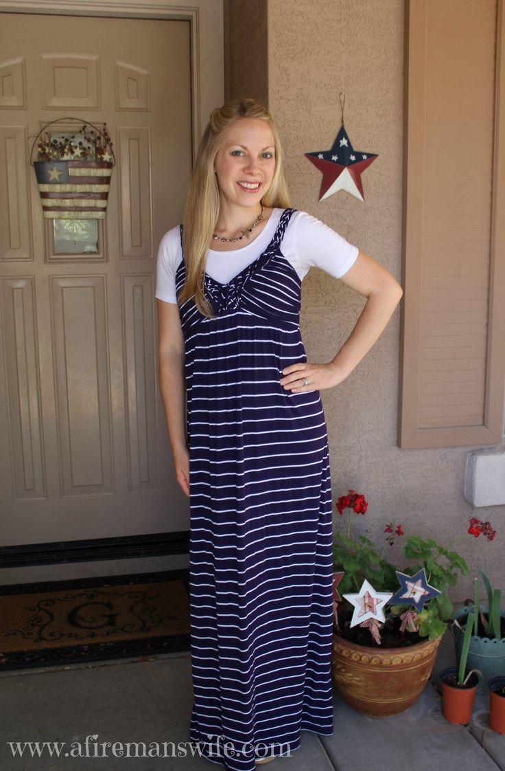 What I Wore ~ Navy Maxi Dress
