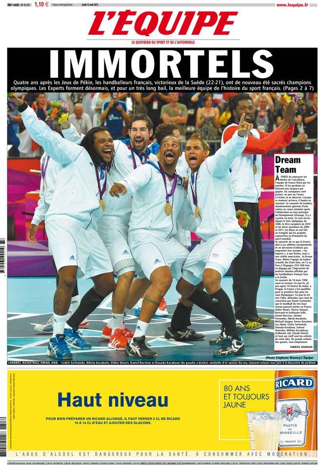 L'Équipe - Lundi 13 Août 2012 - N° 21215