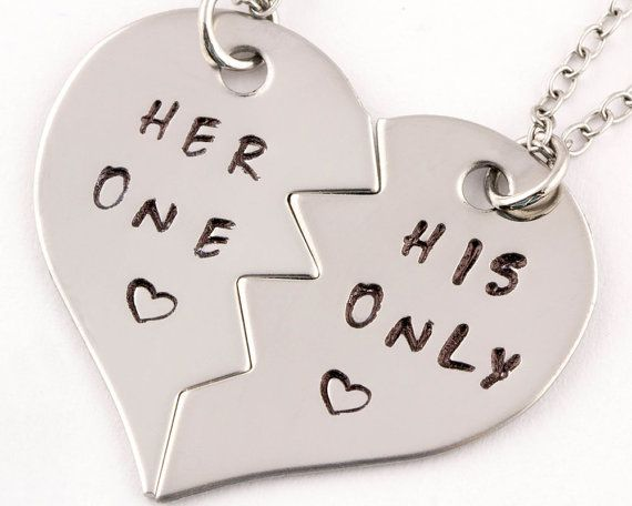 Her One His Only Necklaces Couples Jewelry by TwentySix7 on Etsy
