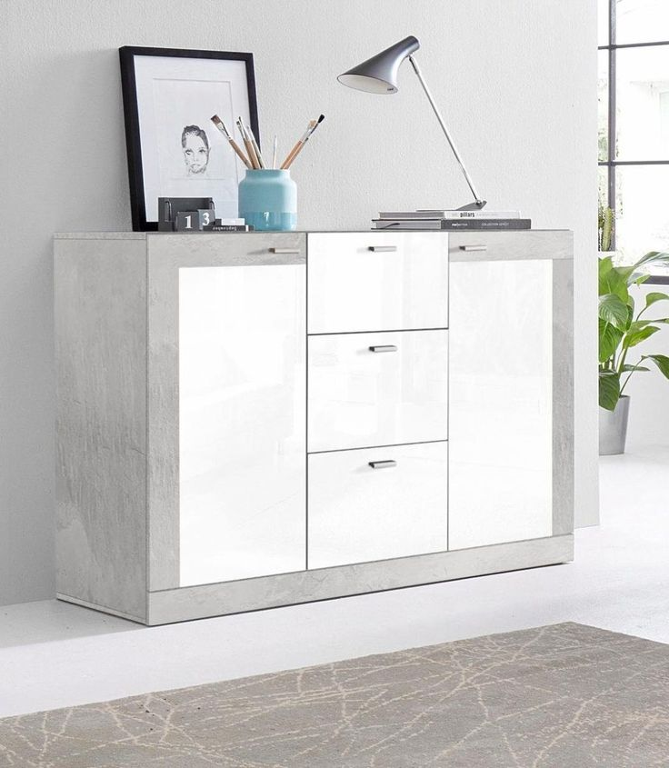 sideboard grau hochglanz amazing grau hochglanz push to mit schubksten yourhome jetzt bestellen. Black Bedroom Furniture Sets. Home Design Ideas