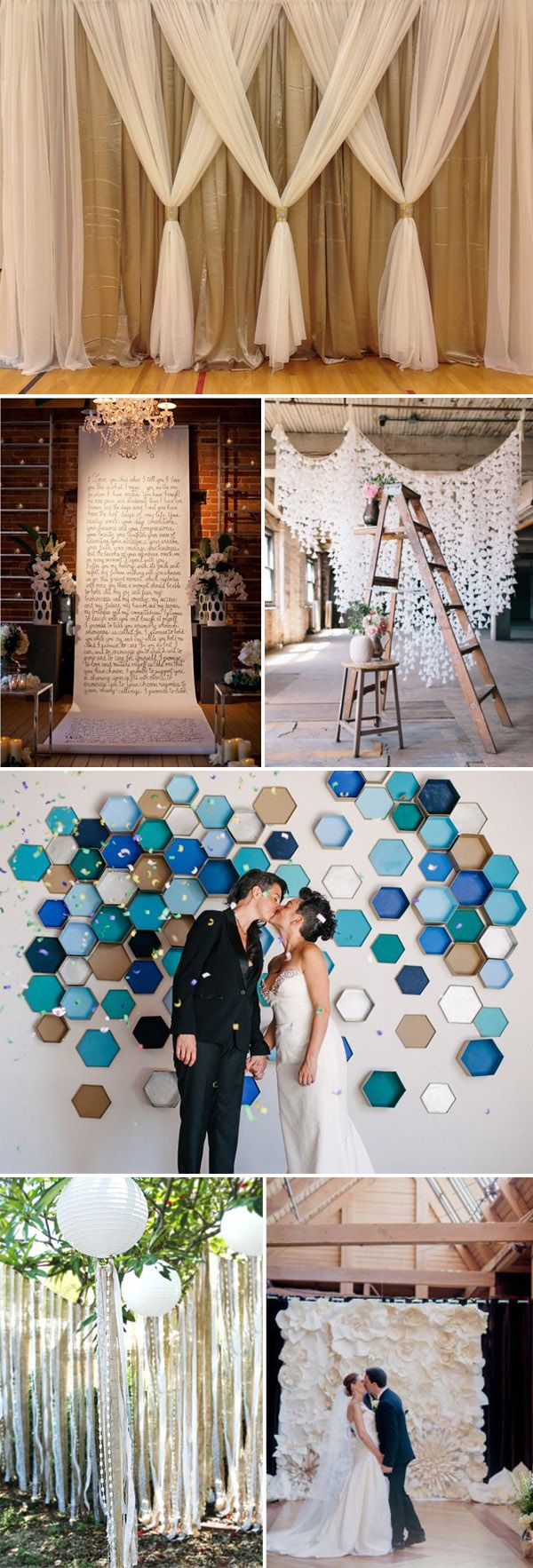 diy wedding backdrop ideas for 2015 wedding ceremony decorations. I love this list!