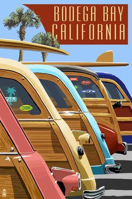 Bodega Bay, California - Woodies Lined Up ~Repinned Via Roberto Ciola