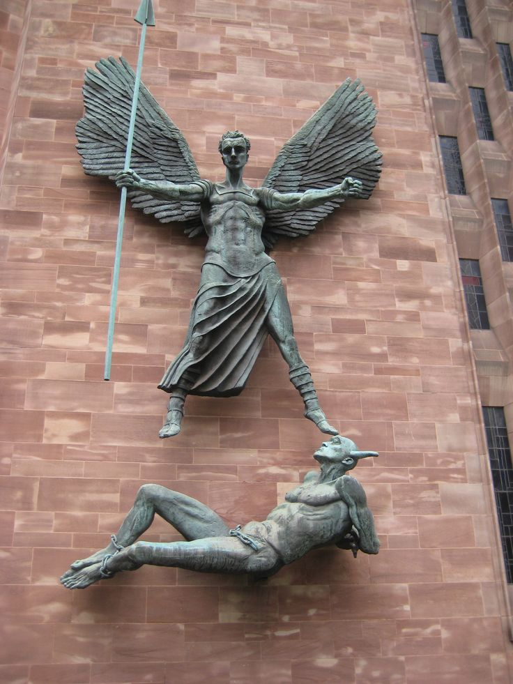 St Michael and the Devil, Coventry Cathedral