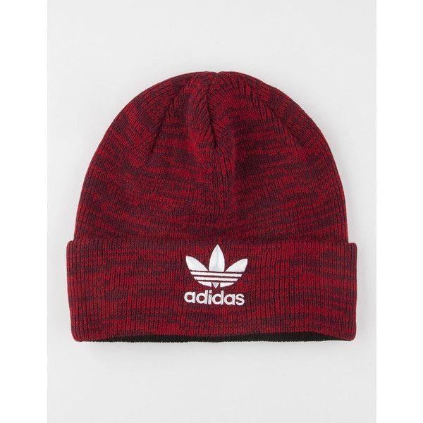 Adidas Trefoil Beanie ($20) ❤ liked on Polyvore featuring accessories, hats, adidas beanie, embroidery hats, embroidered beanie hats, embroidered hats and beanie cap