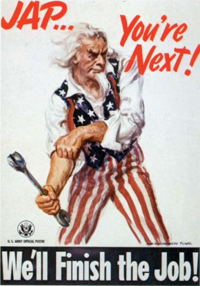 James Montgomery Flagg painted this determined Uncle Sam in 1944. Note the wrench in his right hand.