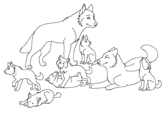 Wolves Coloring Page Collections In 2020 Puppy Coloring Pages