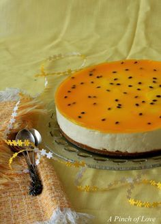 Passion fruit cheesecake  Omg!!!! I NEED TO MAKE THIS IM ADDICTED TO PASSION FRUIT!!!