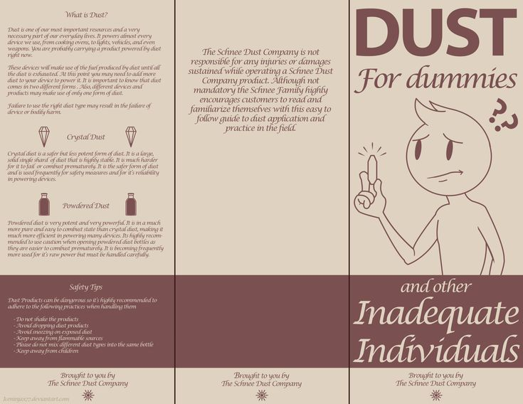 RWBY - DUST For dummies pamphlet by IceNinjaX77.deviantart.com on @DeviantArt