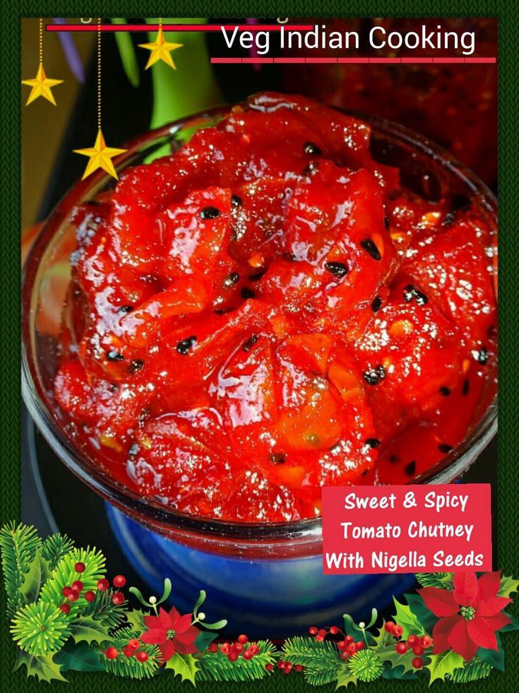 Sweet and Spicy Tomato Chutney http://vegindiangoodfood.blogspot.in/2015/12/sweet-and-spicy-tomato-chutney-with.html? Sweet and Spicy Tomato chutney is... - Veg Indian Cooking - Google+