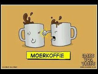 Soos koffie moet maak