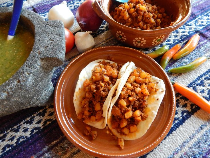 34 best traditional mexican food the basics from jauja cocina mexican chorizo and potatoes on homemade flour tortillas and fresh tomatillo salsa verde complete recipe ingredients and tips fr forumfinder Images