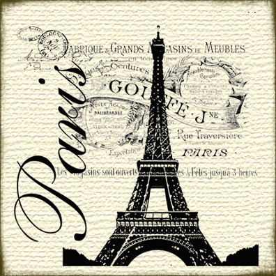 Todo transfer | Aprender manualidades es facilisimo.com Tour Eiffel blanco y negro.