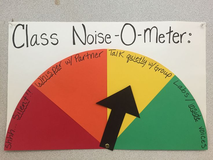 """Want an easy, non-verbal way to communicate to students how quiet they should be? Create a """"noise-o-meter""""!  Check out more ideas and updates to my secondary Science classroom! www.theardentteacher.com"""