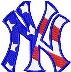 New York Yankees Flag Logo Machine Embroidery Design