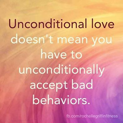 """This is exactly how I think! I want to put it up everywhere especially for those people who misunderstand what """"uncondional love"""" is!!"""