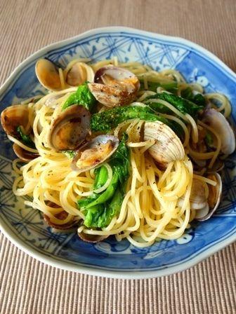 あさりと菜の花のガーリックパスタ by Y'sさん   レシピブログ - 料理 ...