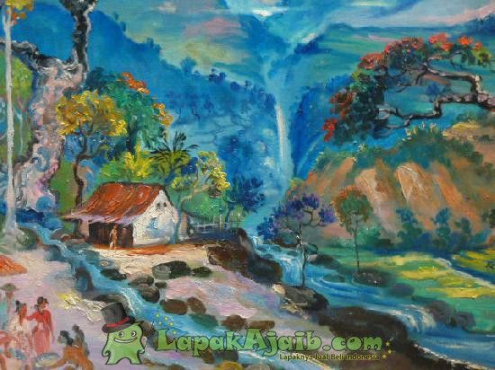 Lukisan Pemandangan Alam Karya Hendra