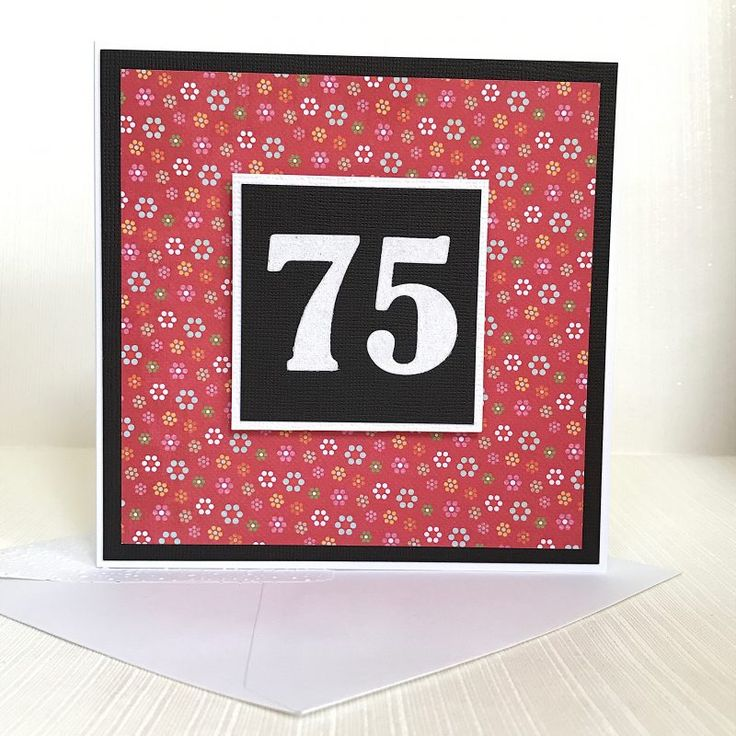 75th birthday card handmade ready for delivery by