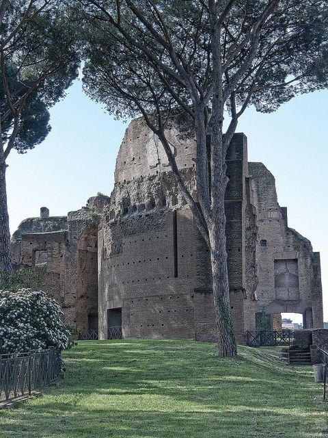 Remains of the Roman Imperial Palaces on the top of the Palatine Hill (3), via Flickr.