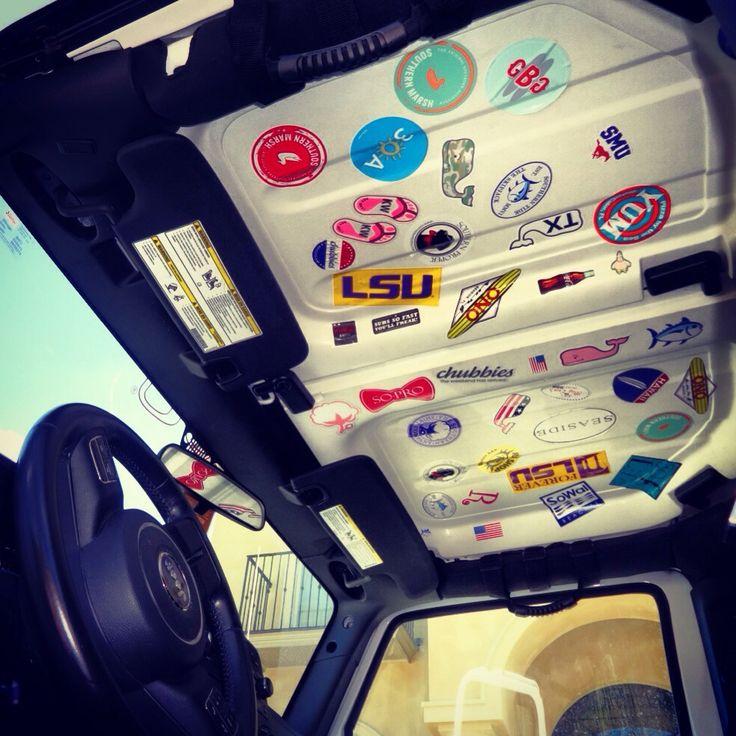 bowsbrosandbacardi:  jeepspinkandlouisianalovin:  Stickers on stickers   This is awesome.