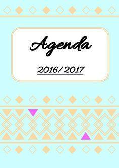 Agenda 2016 / 2017 format A5 à imprimer gratuitement - utile quand je suis en retard sur mon bujo !