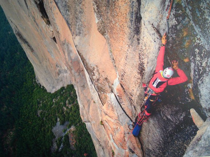 Steve Bate #MEclimbing  This is me soloing Zodiac on El Capitan.