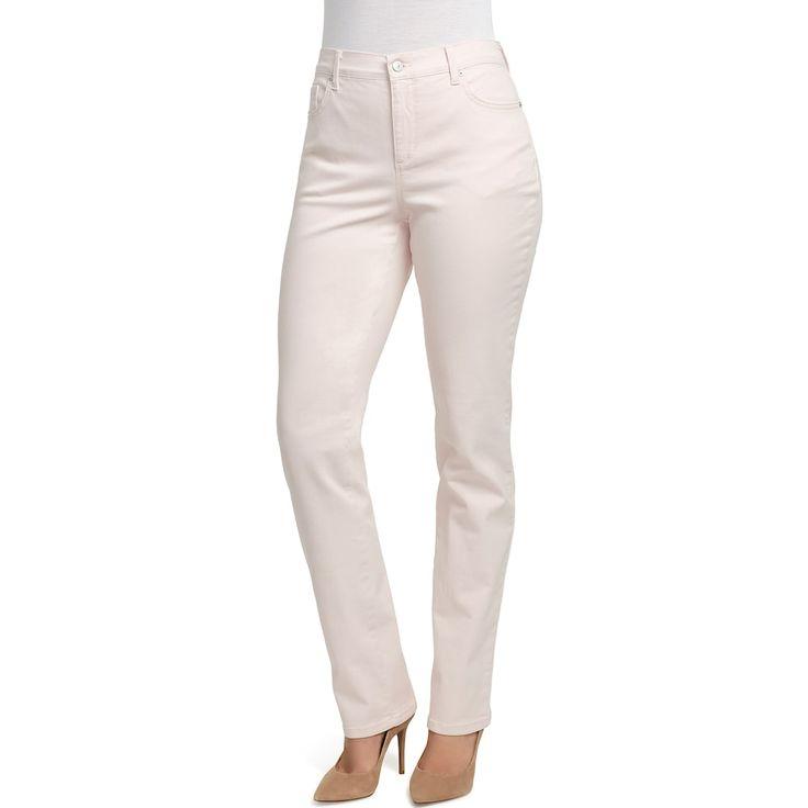 Petite Gloria Vanderbilt Amanda Classic Tapered Jeans, Pink