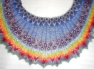 Gamayan Shawl. Love the shape and color.