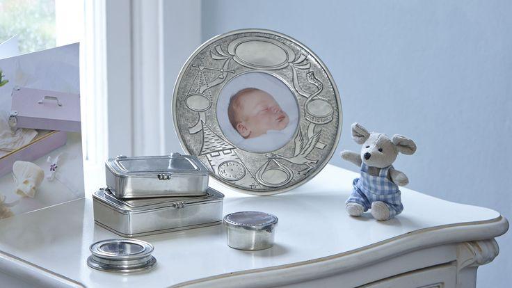 Cornice nascita da tavolo cm Ø 18 (8,5) - collezione: Evita. Cosi Tabellini.
